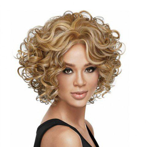 Ladies Fashion Short Curly Wig - GOLDEN