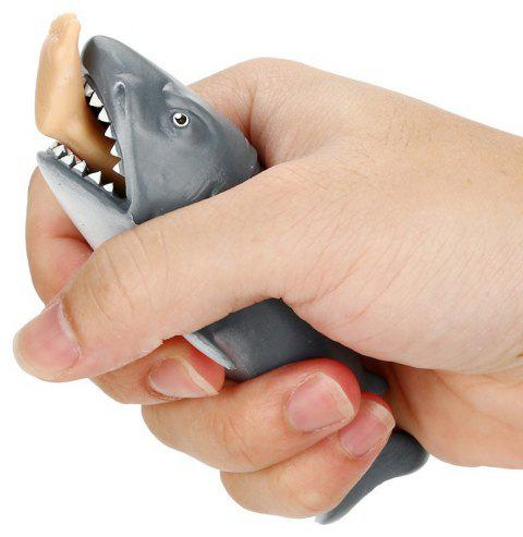 Funny Toy Shark Squeeze Stress Ball Alternative Humorous 12cm - LIGHT SLATE GRAY SIZE S