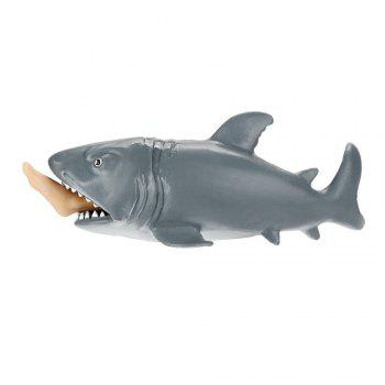 Funny Toy Shark Squeeze Stress Ball Alternative Humorous 12cm - AS THE PICTURE 1 EAT MAN WHALE