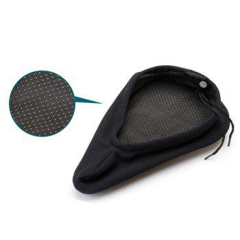 Bike Seat Thickened Comfortable Silicone Saddle Cushion Cover -  BLACK