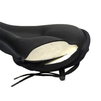 Sponge Thickened Mountain Bike Cushion Cover Seat - BLACK