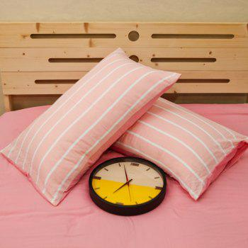 Thickened Suede Cotton Four-Piece Bedding - PINK STRIPES PINK STRIPES