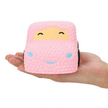 Slow Rising Stress Relief Toy Made By Enviromental PU Replica Car Cake - PINK PINK