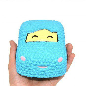 Slow Rising Stress Relief Toy Made By Enviromental PU Replica Car Cake - BLUE BLUE