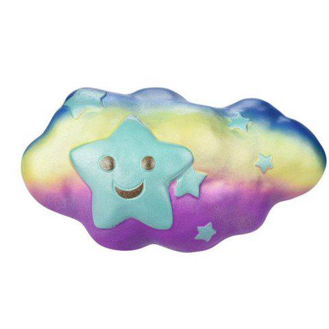 Jumbo Squishy Slow Rising Stress Relief Toy Made By Enviromental PU Replica Clouds - STAR BLUE PRINTING