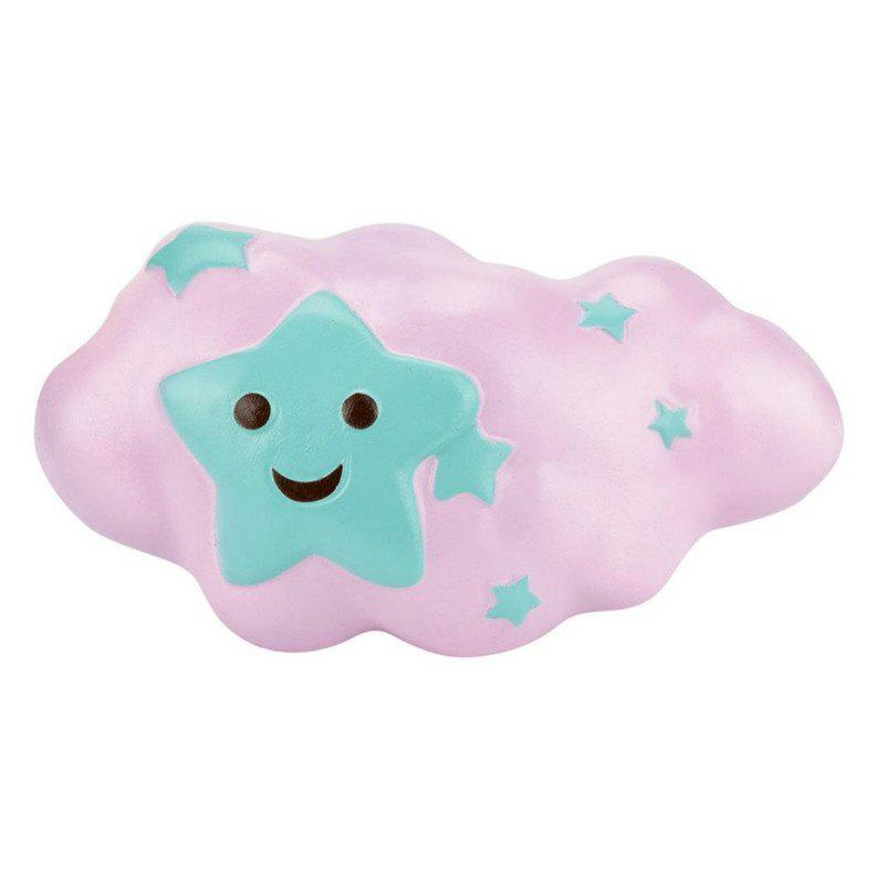 Slow Rising Stress Relief Toy Made By Enviromental PU Replica Clouds - PINK