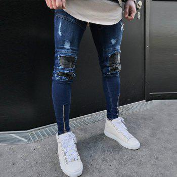 Spell Hole Trend Jeans - [