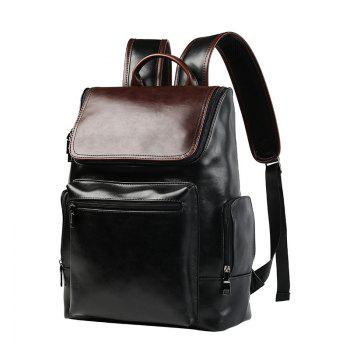 British High School Students Leather Rucksack Travel