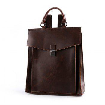 Korean Shoulder Bag Messenger Backpack Leather Business