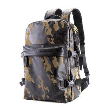 Fashion Camouflage Men s Leather Backpack Travel