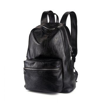 Leather Men s Rucksack Bag Korean Fashion