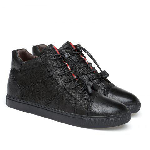 Men Special Genuine Leather Casual Shoes - BLACK 38