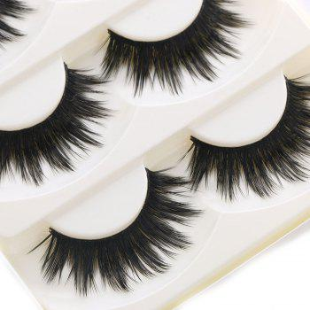 5 Pairs Soft Long Makeup Cross Thick False Eyelashes Natural Handmade Eye Lashes Extension Make Up Beauty - BLACK