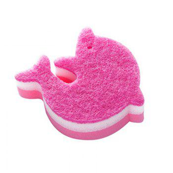 Dolphin Shape Kitchen Sponge Cleaning Cloth -  PINK