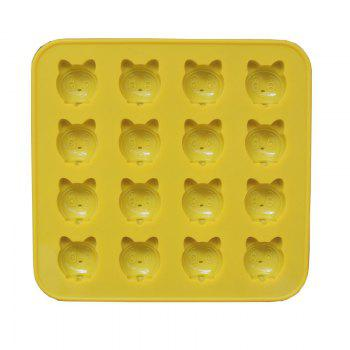 2 Pcs  Cat Silicone Jelly  Chocolate Mold - YELLOW YELLOW