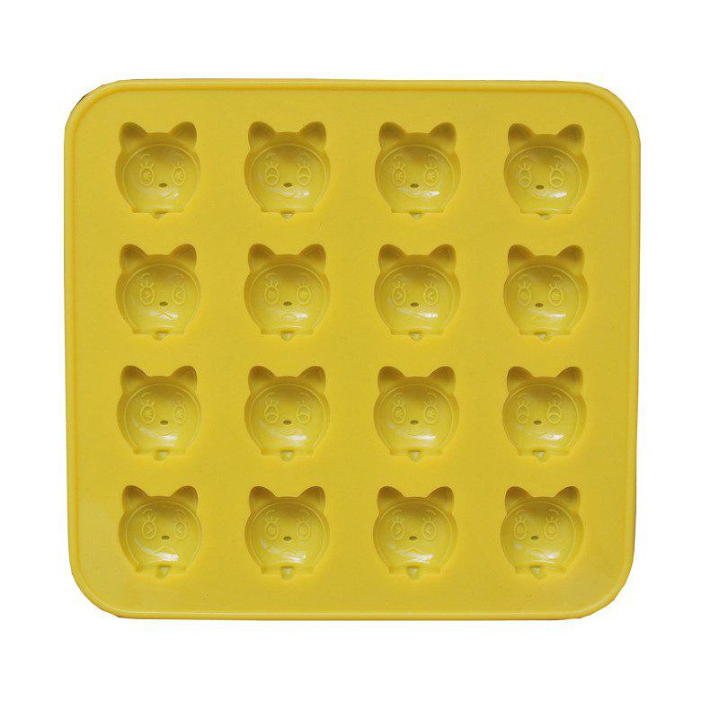 2 Pcs  Cat Silicone Jelly  Chocolate Mold - YELLOW