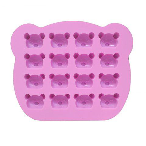2 Pcs Koala Bear Silicone Mold Baking Utensils Bakeware Jelly Candy Clay Making Decoration - PINK
