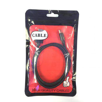 1M Nylon Braid Fast Charger Data Cable for Type-C  Devices - BLACK