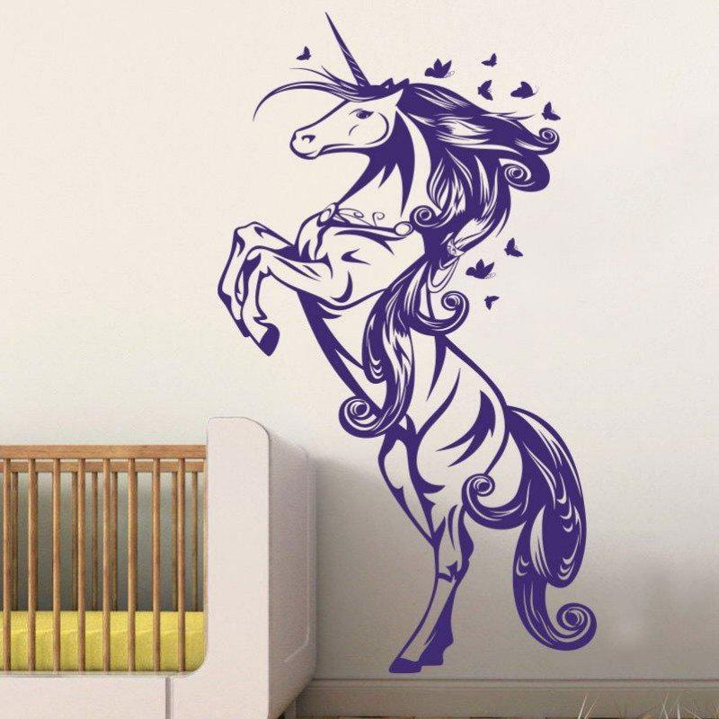 Cartoon Horse Nursery Girls Bedroom Wall Decal Sticker Art Vinyl Wall Stickers For Kids Room Living Room Vinilos Paredes custom papel de parede infantil space shuttle orbiting earth 3d cartoon mural for children room bedroom wall vinyl wallpaper