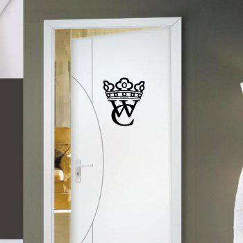 Creative Design Wall Stickers for Washroom WC Decals for Door Bathroom Murals - BLACK 30X25CM