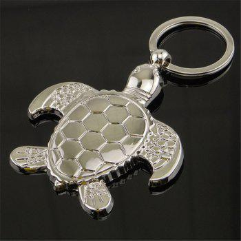 Personality Metal Turtle Charms Pendant Key Chains Silver Fashion Jewelry Creative Animal Keychain - SILVER
