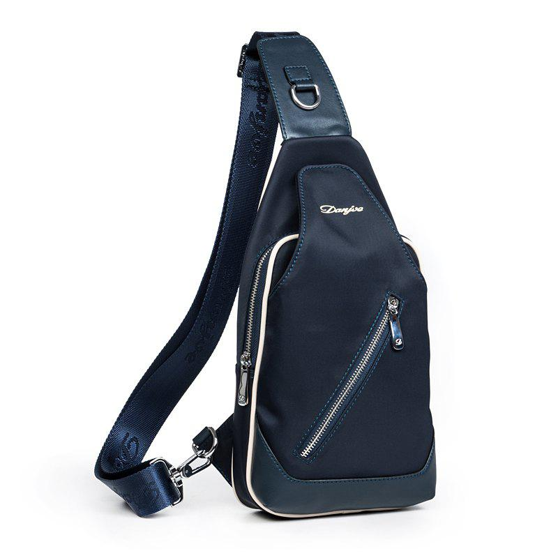 DANJUE Men Chest Bags Brand Cross Body Bags Messenger Package Bags ForHigh Quality Men Shoulder Casual Back Pack - BLUE