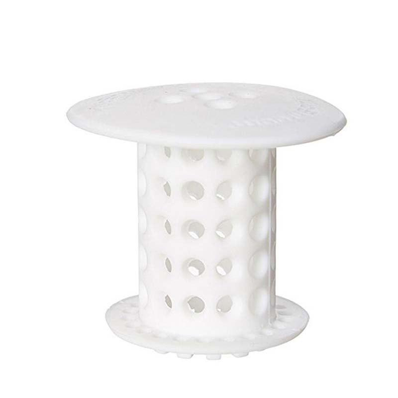 Bathtub Strainer-Hair Catcher - WHITE