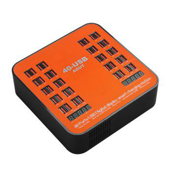 840 USB Multi-port Charger for 8 Pin Multi-function Rechargeable LCD Dynamic Display 150W High Power - ORANGE EU PLUG
