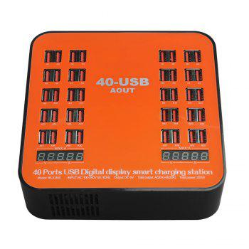 840 USB Multi-port Charger for 8 Pin Multi-function Rechargeable LCD Dynamic Display 150W High Power - ORANGE ORANGE