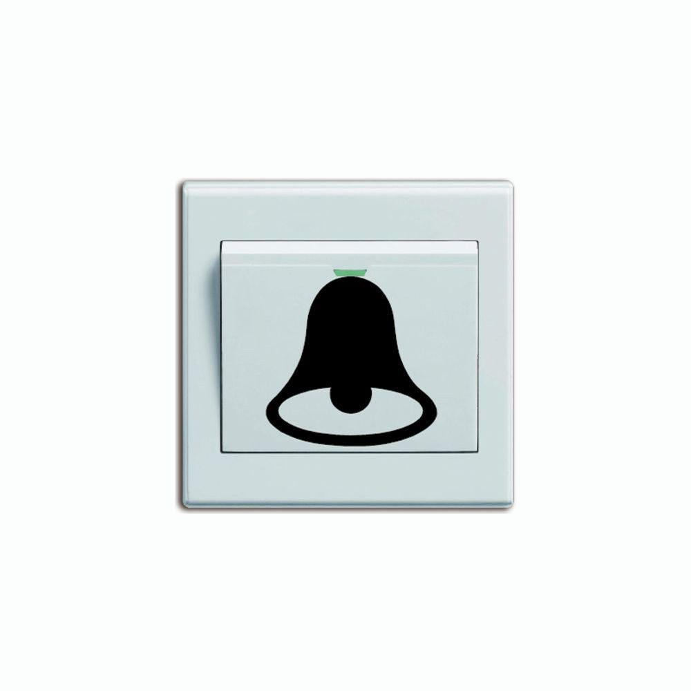 DSU Merry Christmas Lovely Doorbell Switch Sticker Creative Cartoon Doorbell Vinyl Wall Decal - BLACK 3.5 X 4 CM