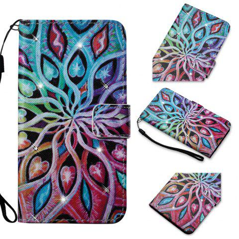 Cover Case for Samsung Galaxy S7 Edge Colourful Pattern Leather with Water Drill - ROSE RED