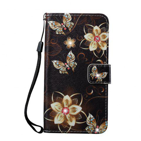 Cover Case for Samsung Galaxy S7 Edge Colourful Pattern Leather with Water Drill - BLACK GOLD
