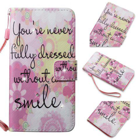 Cover Case for Samsung Galaxy S7 Edge Colourful Pattern Leather with Water Drill - PINK
