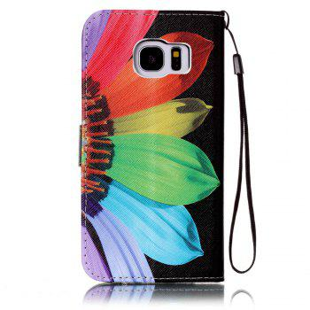 Cover Case for Samsung Galaxy S7 Edge Colourful Pattern Leather with Water Drill - RED / PURPLE / BLUE / GREENYELLOW