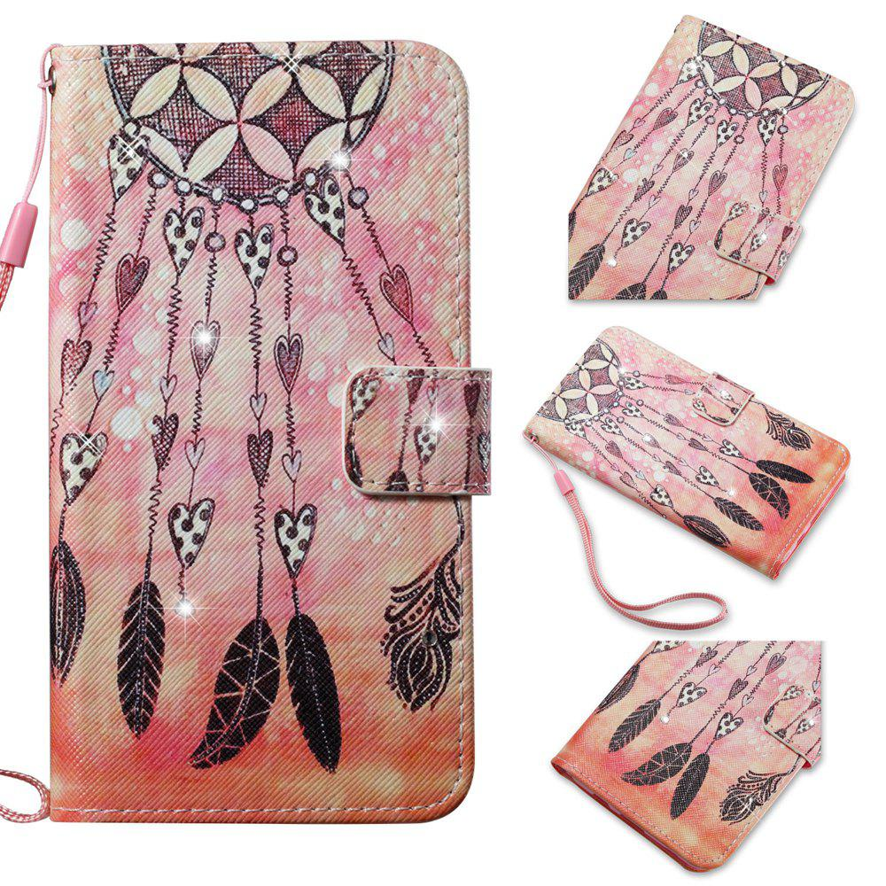 Cover Case for Samsung Galaxy S7 Edge Colourful Pattern Leather with Water Drill - ROSE GOLD