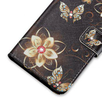 Cover Case for Sony XA Colourful Pattern Leather with Water Drill - BLACK GOLD