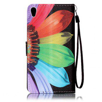 Cover Case for Sony XA Colourful Pattern Leather with Water Drill - RED / PURPLE / BLUE / GREENYELLOW