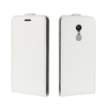 Durable Crazy Horse Pattern Up and Down Style Flip Buckle PU Leather Case for Xiaomi Redmi Note 4X - WHITE
