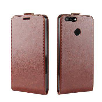 Durable Crazy Horse Pattern Up and Down Style Flip Buckle PU Leather Case for Oukitel U22 - BROWN