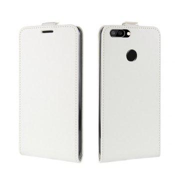 Durable Crazy Horse Pattern Up and Down Style Flip Buckle PU Leather Case for Oukitel U22 - WHITE