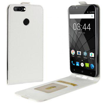 Durable Crazy Horse Pattern Up and Down Style Flip Buckle PU Leather Case for Oukitel U22 - WHITE WHITE