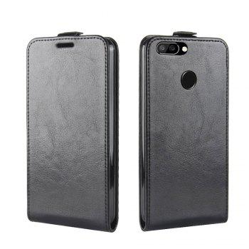 Durable Crazy Horse Pattern Up and Down Style Flip Buckle PU Leather Case for Oukitel U22 -  BLACK