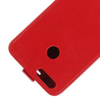 Durable Crazy Horse Pattern Up and Down Style Flip Buckle PU Leather Case for Oukitel U22 - RED