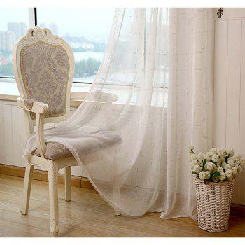 Curtain  White  Pure Linen Yarn - WHITE 1.32M X 1.75M