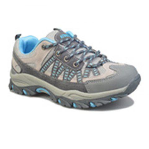 Spring and Autumn Season Outdoor Climbing Boots Waterproof Antiskid Shoes - BLUE 37