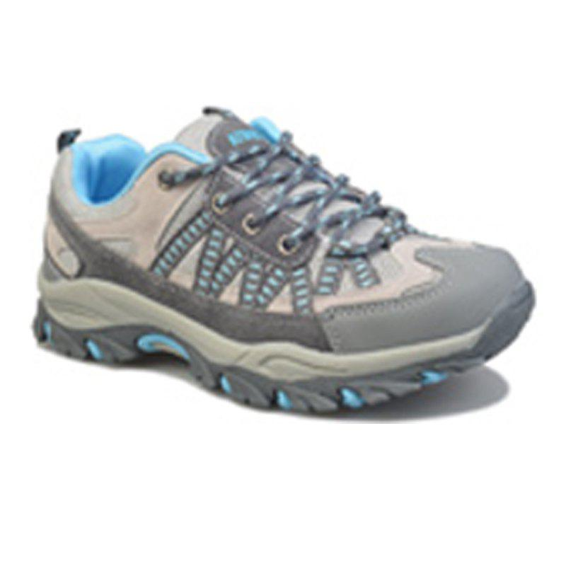 Spring and Autumn Season Outdoor Climbing Boots Waterproof Antiskid Shoes - BLUE 39