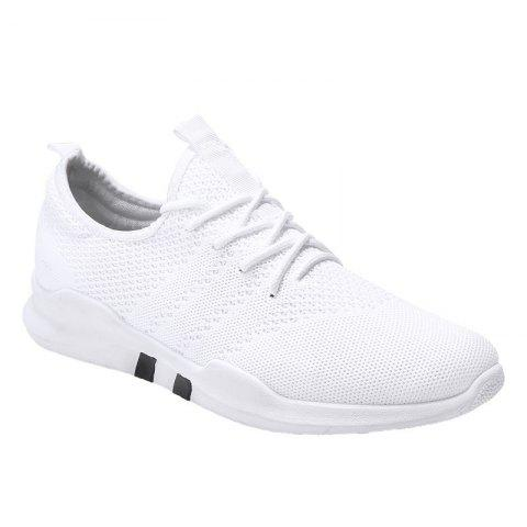 New Spring Breathable Athletic Shoes For Men - WHITE 40