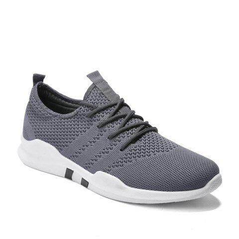 New Spring Breathable Athletic Shoes For Men - GRAY 44