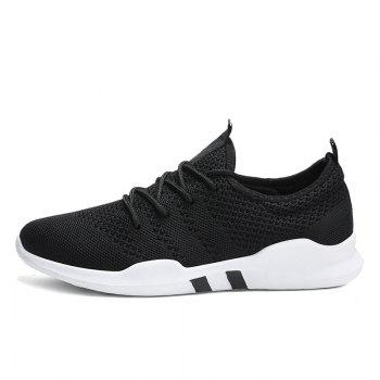 New Spring Breathable Athletic Shoes For Men - BLACK BLACK