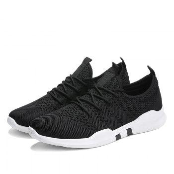 New Spring Breathable Athletic Shoes For Men - BLACK 41